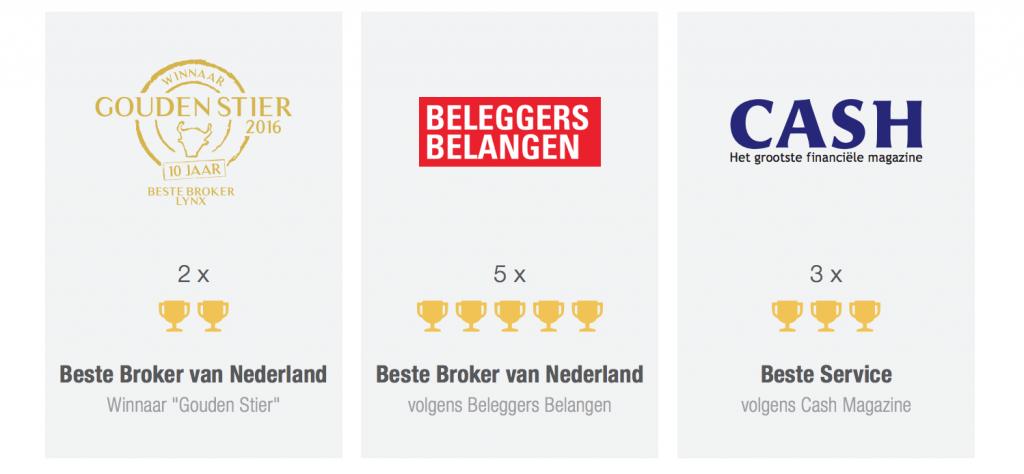 Vakpers prijzen LYNX Broker